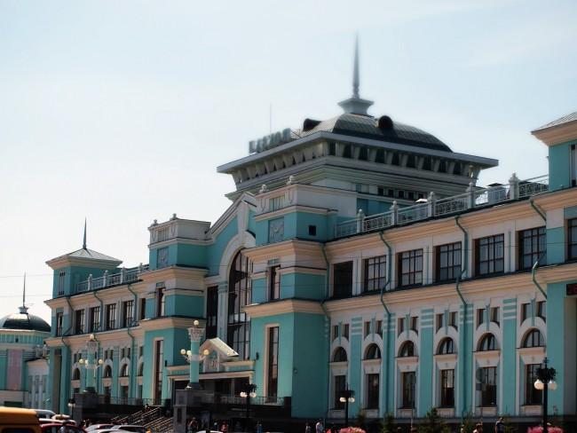 Вокзал города Омск