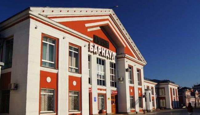 Вокзал города Барнаул