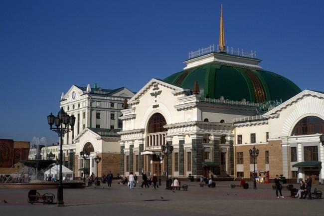 Вокзал города Красноярск